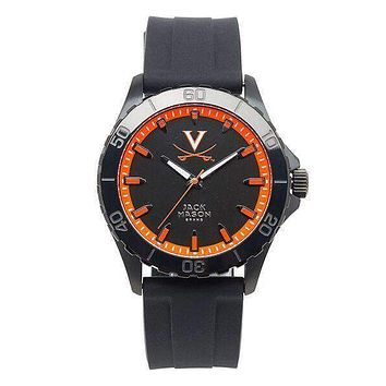Virginia Cavaliers Men's Blackout Silicone Strap Watch by Jack Mason