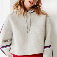 Tommy Jeans Striped Cropped Hoodie Sweatshirt | Urban Outfitters