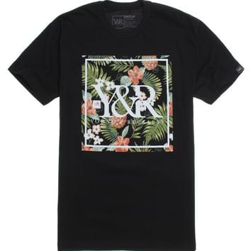 Young & Reckless Floral Trademark T-Shirt - Mens Tee - Black