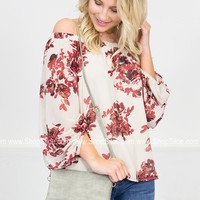 Pale Ivory Floral Top