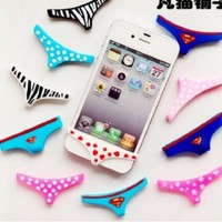 Sexy Lady Underwear Thong Soft Silicone Home Button Case Cover for Iphone 5 4 4s