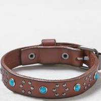 AEO Women's Turqouise Studded Cuff (Leather)