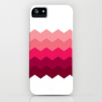 Chevron Pink iPhone & iPod Case by Valerie Hoffmann