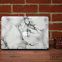 White Marble Macbook Pro Hard Plastic White Marble Case, Macbook Pro Retina and Non Retina Display, Macbook Air Hard Case,