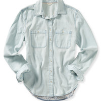 Aeropostale  Long Sleeve Bandana Woven Shirt