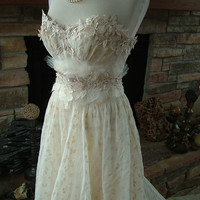 Wedding dress 1930s Vintage Gown restyled by RetroVintageWeddings
