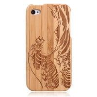 Wooden Wave Hard Natural Bamboo Cas.. on Luulla