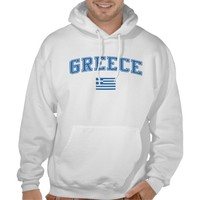 Greece + Flag Hooded Pullover