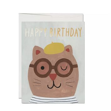 Lots of Cats French Fold Foil Birthday Card