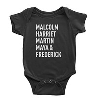 Malcolm Harriet Martin Maya And Frederick Infant One-Piece Romper Bodysuit