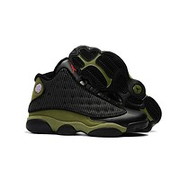 Air Jordan 13 Retro Aj13 Black/army Green Sneaker Shoes Us8-13