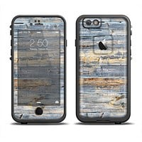 The Vintage Wooden Planks with Yellow Paint Apple iPhone 6 LifeProof Fre Case Skin Set