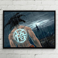Dragon Ball Z (DBZ) - Goku vs Cell Landscape A3 A2 A1 Art Print Poster Gift Wrapped With Backing Card And Cellophane Wrapper