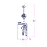 New Charming Dangle Crystal Navel Belly Ring Bling Barbell Button Ring Piercing Body Jewelry = 4804940484