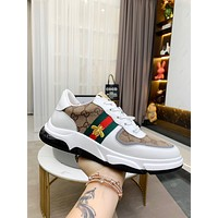 Gucci Men Fashion Boots fashionable Casual leather Breathable Sneakers Running Shoes 0316em