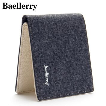 Casual Men Wallets Canvas Vintage Male Wallet Money Bag Men Coin Purse With Zipper Pocket High Quality Purses Card Holder MWS134