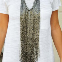 Raise Your Glass Necklace: Pewter