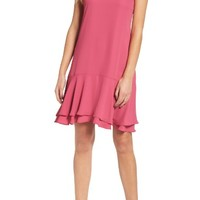 Charles Henry Tiered Shift Dress | Nordstrom