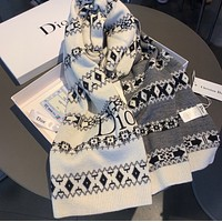 Dior Autumn Winter Hot Sale Women Tassel Cashmere Cape Scarf Scarves Shawl