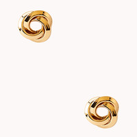 FOREVER 21 Twisted Knot Studs Gold One