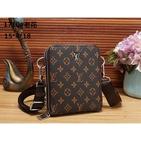 LV Louis Vuitton Men's Fashion Leather Tote Bag Handbag Shoulder Bag Handbag Size: 15*4*18