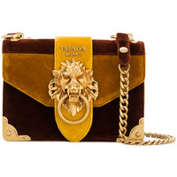Prada Cahier Lion-embellished Shoulder Bag - Farfetch