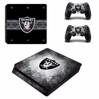 Oakland Raiders Football PS4 Slim Skin Decal Stickers for Sony PlayStation 4 Slim