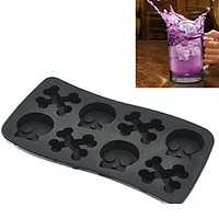 Free Shipping Skull Mold Silicone Ice Cube Mold Ice Cream Ice Molds Cake Mould Cooking Tools
