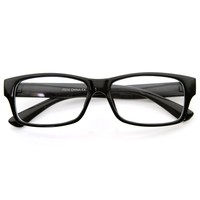 Modern Fashion Rectangular Thick Bold Frame Clear Len Eye Glasses
