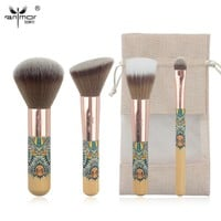 Anmor New Travelling Makeup Brush Set 4 Piece Fantasy Makeup Brushes Synthetic Powder Blush Eyeshadow Make Up Brushes CH001