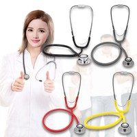 Portable Dual Head EMT Clinical Stethoscope Medical Auscultation Device Estetoscopio Littmann Fonendoscopio Random Color