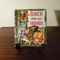 "Vintage 1972 Book ""Duck and His Friends"" - A little Golden Book / Retro kid's book / Golden Press / By K & B Jackson / Richard Scarry"