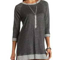 High-Low Sweatshirt Dress by Charlotte Russe - Med. Gray Heather