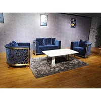 Velvet Chesterfield Golden Frame  Sofa For Living Room