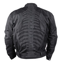 Men's Motorcycle Jacket with Reflective Skeleton by Inspire