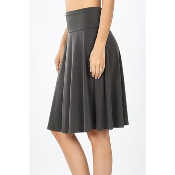 Fold Over A Line Flared Skirt