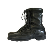 Black Combat Boot Men Grunge Military Boot Army Boot Work Boot Men Boot 11 Gothic Boot 90s Goth Boot Black Leather Boot Black Lace Up Boot