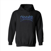 Thrasher men's sweater flame high-quality hooded sweater variety