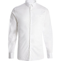 River Island MensWhite skinny stretch long sleeve shirt
