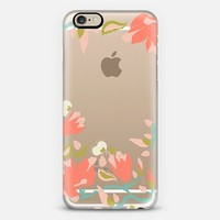 Coral magnolia flowers iPhone 6 case by Very Sarie | Casetify