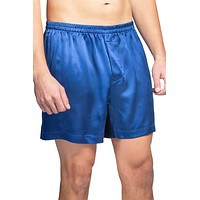 Men's 100% Pure Mulberry Silk Lounge Boxers - IMPROVED No-Roll Waistband