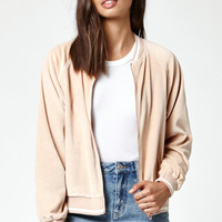 Kendall and Kylie Velour Bomber Jacket at PacSun.com