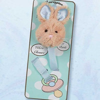 Bunny Tail Pacifier Clip