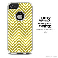 The Sharp Tan Chevron Pattern Skin For The iPhone 4-4s or 5-5s Otterbox Commuter Case