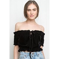 Fashion Off Shoulder Short Sleeve Loose Solid Color Women's Crop Tops Strapless T-shirt