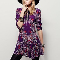 Free People Womens Smooth Talker Floral Print Tunic