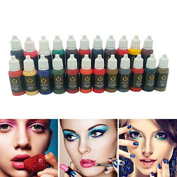 Permanent Makeup tattoo ink pigment 15ml/bottle for eyebrow make up Permanent body makeup lip ink tattoo machine beauty tools