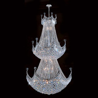 Worldwide Lighting Empire 36 Light Crystal Chandelier