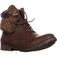 Rock & Candy Spraypaint Foldover Ankle Boots, Dark Brown Multi, 11 US