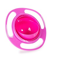 Hot sales 2017 Practical Design Children Kid Baby Toy Universal 360 Rotate Spill-Proof Bowl Dishes